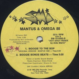 Mantus & Omega 88 / Boogie To The Bop label
