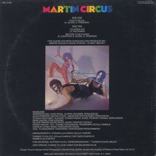 Martin Circus / S.T. back