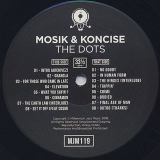 Mosik & Koncise / The Dots label