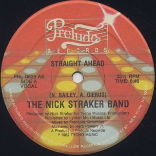 Nick Straker Band / Straight Ahead back