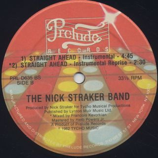 Nick Straker Band / Straight Ahead label