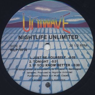 Nightlife Unlimited / Just Be Yourself label