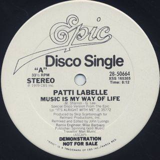 Patti LaBelle / Music Is My Way Of Life back