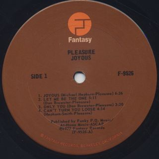 Pleasure / Joyous label
