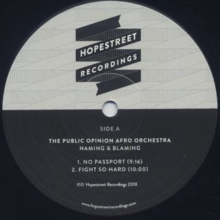 Public Opinion Afro Orchestra / Naming & Blaming label