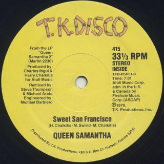 Queen Samantha / Take A Chance label