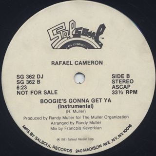 Rafael Cameron / All That's Good To Me label