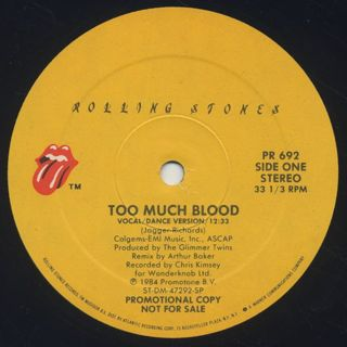 Rolling Stones / Too Much Blood label