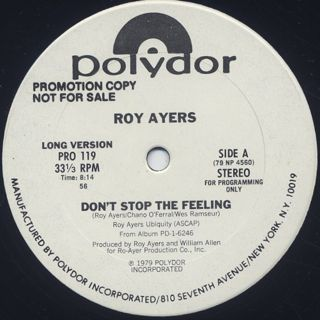 Roy Ayers / Don't Stop The Feeling (12