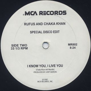 Rufus And Chaka Khan / Any Love c/w I Know You, I Live You back