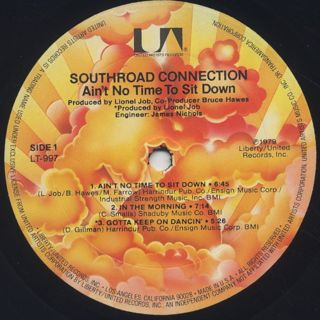 Southroad Connection / Ain't No Time To Sit Down label