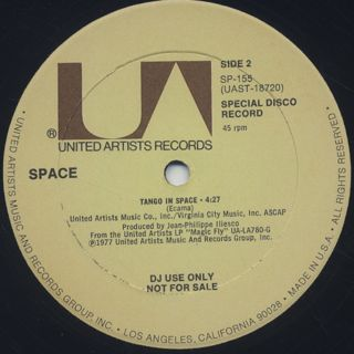 Space / Carry On, Turn Me On c/w Tango In Space back