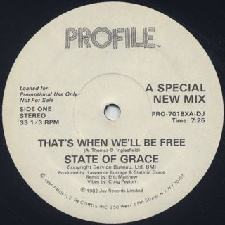 State Of Grace / That's When We'll Be Free back