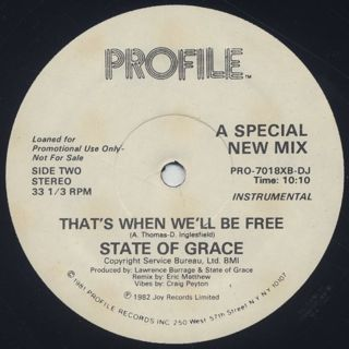 State Of Grace / That's When We'll Be Free label