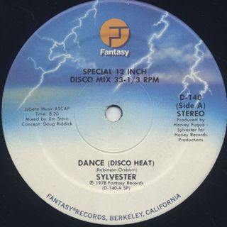 Sylvester / Dance (Disco Heat) c/w You Make Me Feel (Mighty Real) back