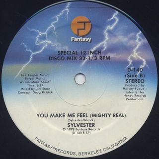 Sylvester / Dance (Disco Heat) c/w You Make Me Feel (Mighty Real) label