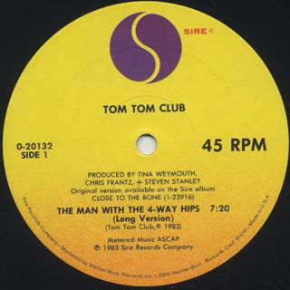 Tom Tom Club / The Man With The 4-Way Hips label