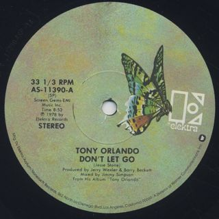Tony Orland / Don't Let Go label