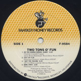 Two Tons O' Fun / S.T. label