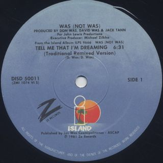 Was (Not Was) / Tell Me That I'm Dreaming / Out Come The Freaks (Dub) label
