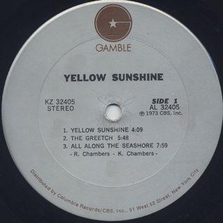 Yellow Sunshine / Yellow Sunshine label