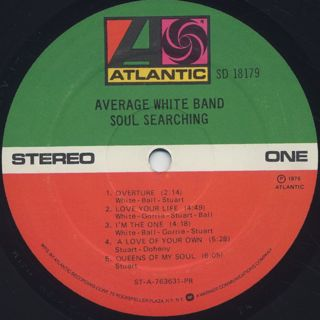 Average White Band / Soul Searching label