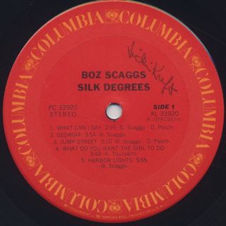 Boz Scaggs / Silk Degrees label