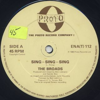 Broads / Sing Sing Sing label