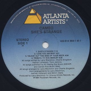 Cameo / She's Strange label