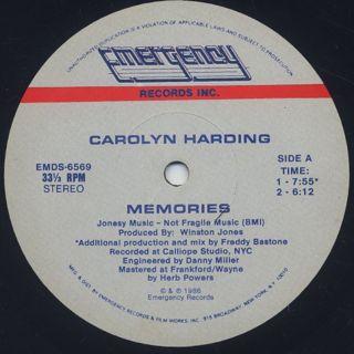 Carolyn Harding / Memories back