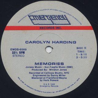Carolyn Harding / Memories label