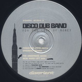 Disco Dub Band / For The Love Of Money label