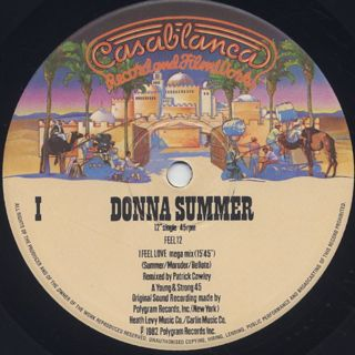 Donna Summer / I Feel Love (Patrick Cowley Mega Mix) label