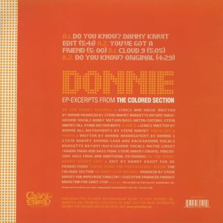 Donnie / Excerpts From The Colored Section EP back