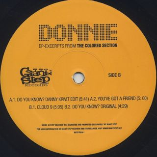 Donnie / Excerpts From The Colored Section EP label