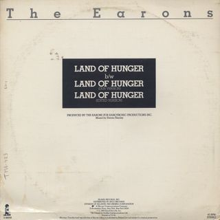 Earons / Land Of Hunger back