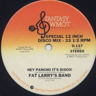 Fat Larry's Band / Lookin' For Love c/w Hey Pancho It's Disco! back