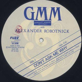 Giovanotti Mondani Meccanici with Alexander Robotnick / Don't Ask Me Why back
