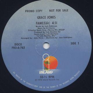 Grace Jones / Fame back