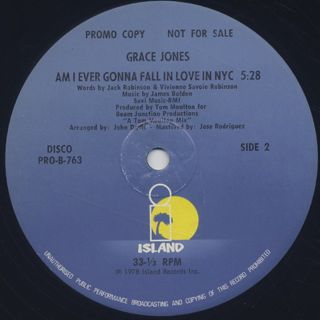 Grace Jones / Fame label