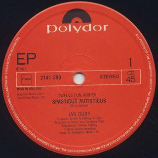 Ian Dury / Spasticus Autisticus label
