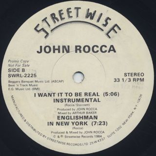 John Rocca / I Want It To Be Real back