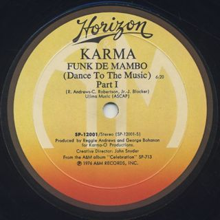 Karma / Funk De Mambo (Dance To The Music) back