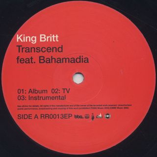 King Britt / Transcend c/w Spaces back