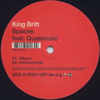 King Britt / Transcend c/w Spaces label