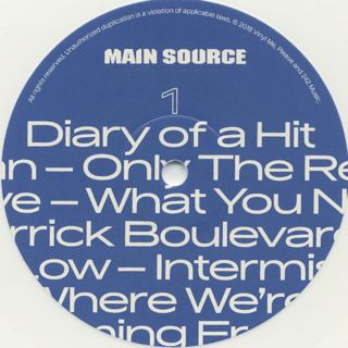 Main Source / Fuck What You Think label