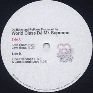 Mr. Supreme / Love Saves The Day label