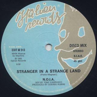 N.O.I.A. / Stranger In A Strange Land label