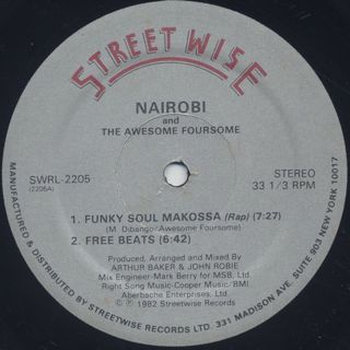 Nairobi And The Awesome Foursome / Funky Soul Makossa