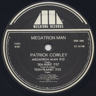 Patrick Cowley / Megatron Man label